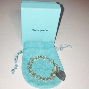 Tiffany & Co 925 Sterling Silver Heart Bracelet